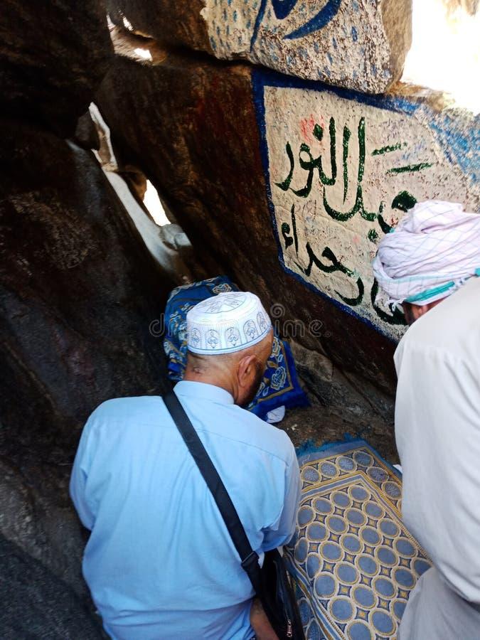 Grotta av Hira royaltyfria bilder