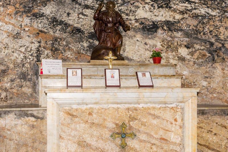 Grotta av profeten Elijah royaltyfri foto