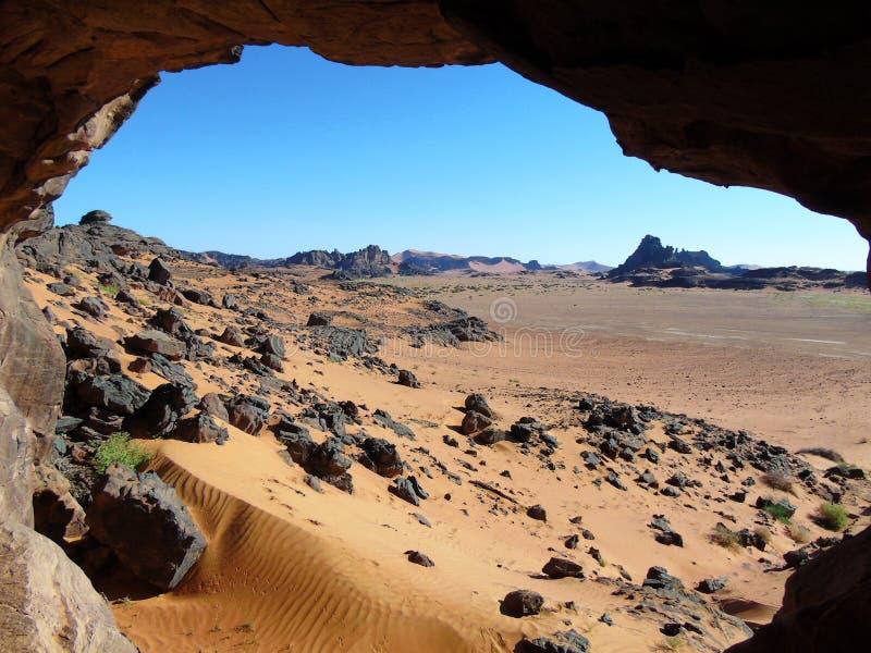 Grotta för Sahara öken royaltyfria foton