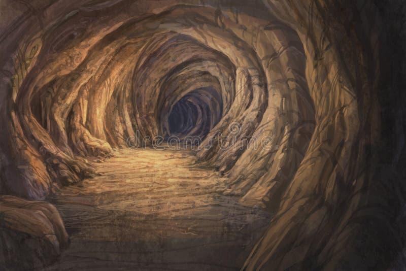 grotta inom vektor illustrationer
