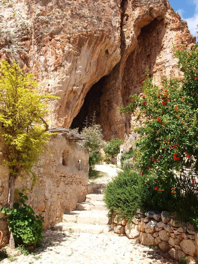 Grotta Mangiapane, Sicily, Italy stock photo