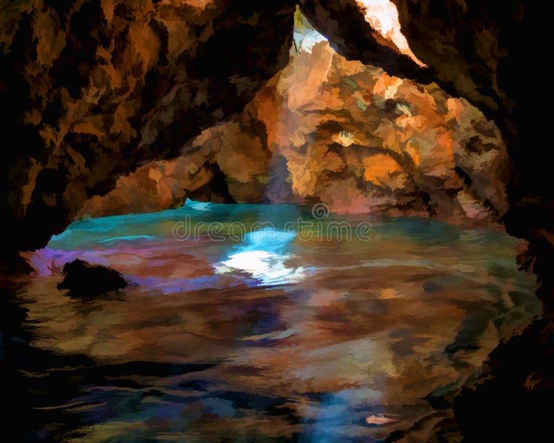 Grotta severa nascosta illustrazione di stock