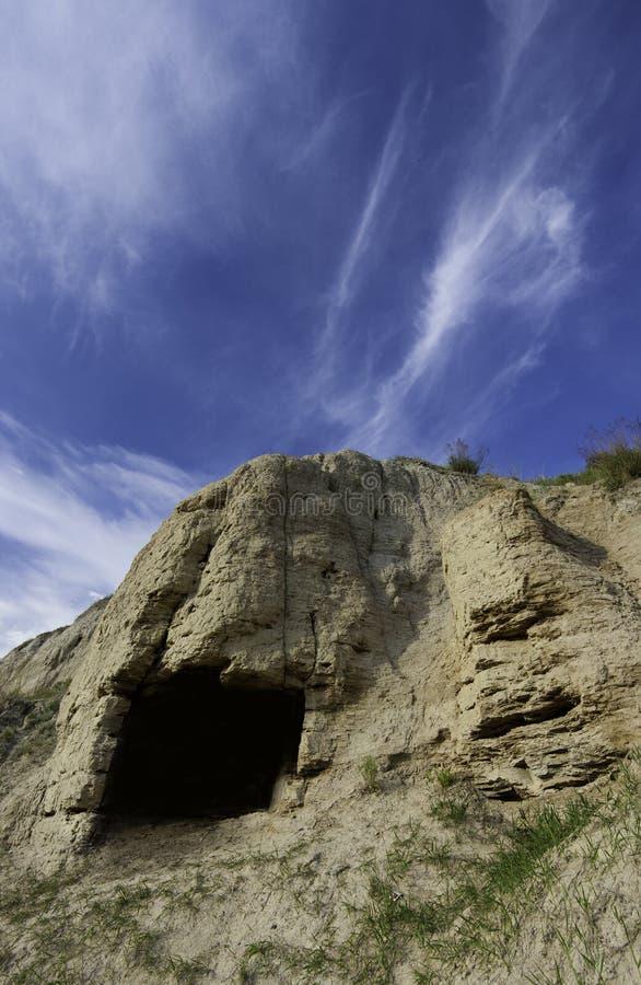 grottadark arkivfoto