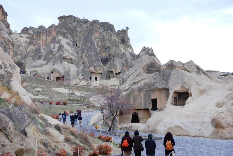 Grottahus i Cappadocia, Turkiet royaltyfri fotografi