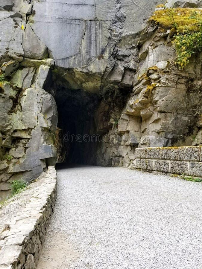 grottaingångsexponering som skjutas long royaltyfri foto