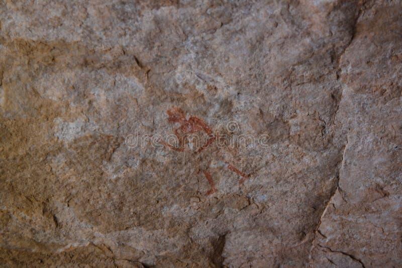 Grottamålningar och petroglyphs i den Tassili nAjjernationalparken, Algeriet arkivfoto