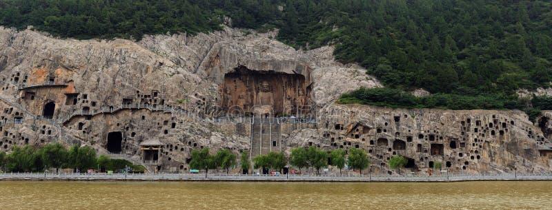 grottan longmen arkivbild