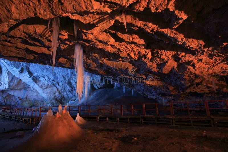 grottascarisoara arkivfoton