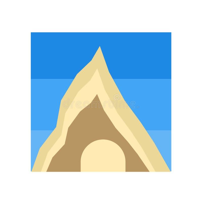 Grottasymbolsvektor som isoleras på vit bakgrund, grottatecken, historiska symboler för stenålder vektor illustrationer