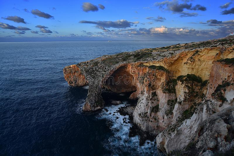 Grotte bleue photographie stock