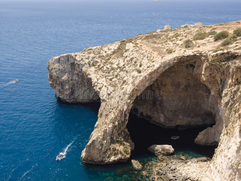 Grotte bleue - Gozo, Malte photographie stock libre de droits