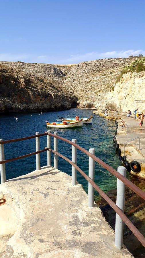 Grotte bleue Malte photos stock