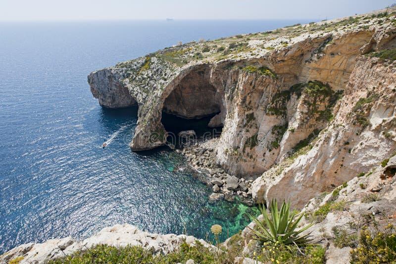 Grotte bleue Malte photographie stock libre de droits