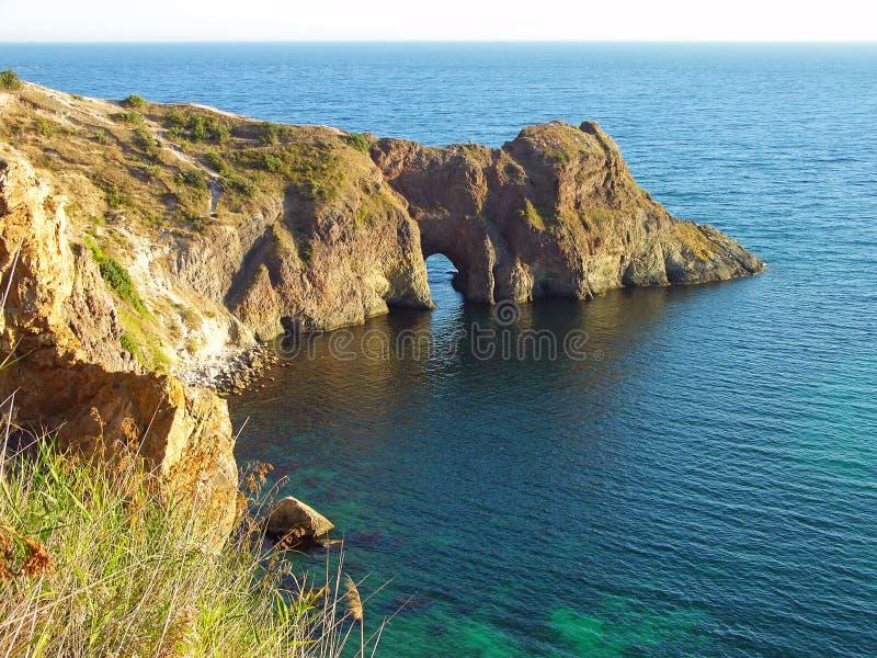 Grotte de Diana en Mer Noire, Ukraine photographie stock