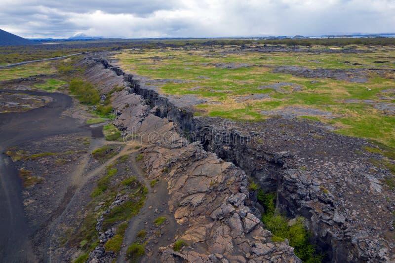 Grotte de Grjotagja - Islande photos stock