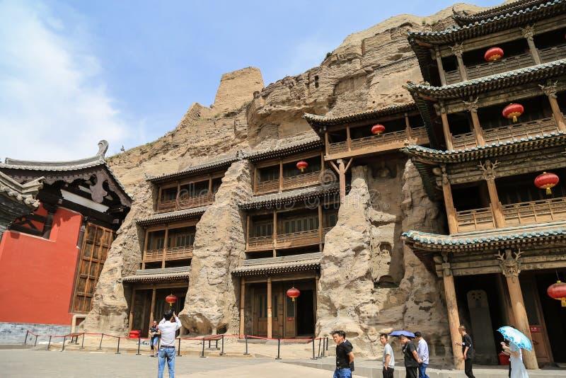 Grotte della caverna di Yungang, Datong, Cina fotografia stock