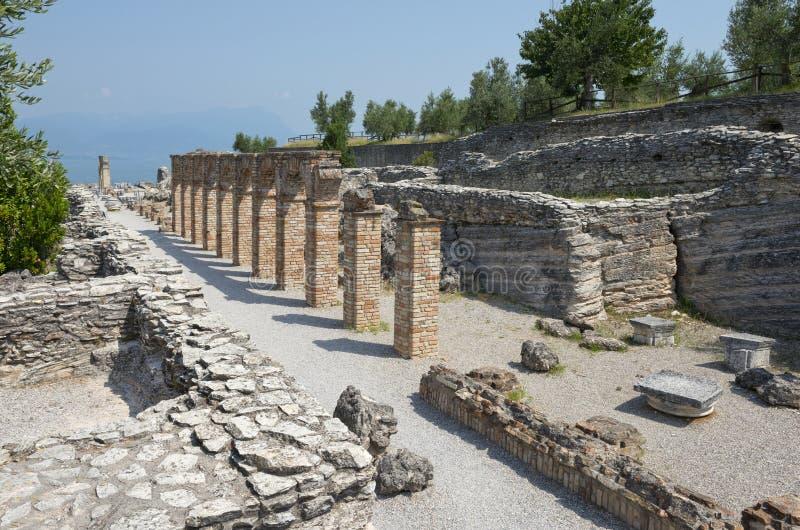grotte Di Catullo Roman Remainsat Sirmione 图库摄影