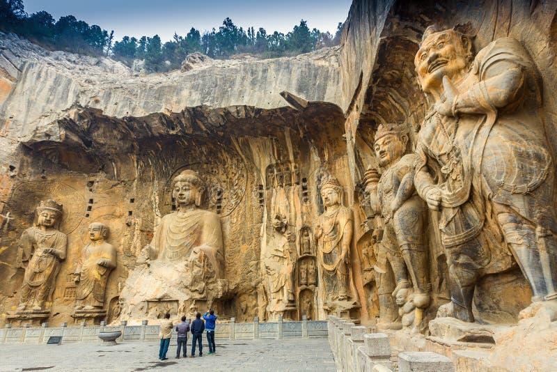 Grotte di Longmen fotografia stock libera da diritti
