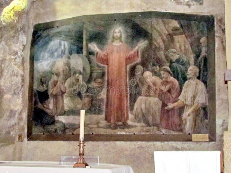 Grotte Jesus Praying Jerusalems Gethsemane unter den Aposteln 20 lizenzfreie stockfotografie