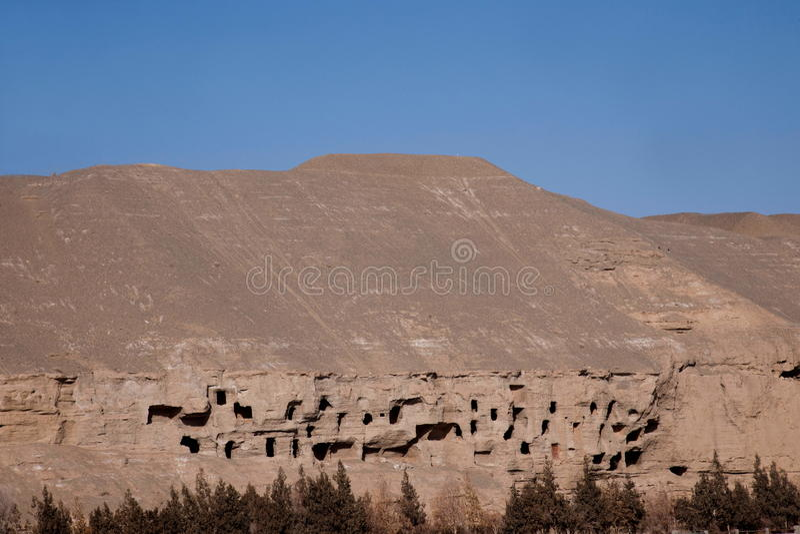 Grottenaltes Dunhuangs Mogao verlassen stockfotografie