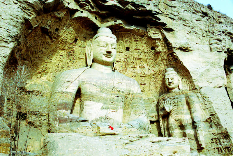 Grottes bouddhistes de Yungang en Chine photos libres de droits