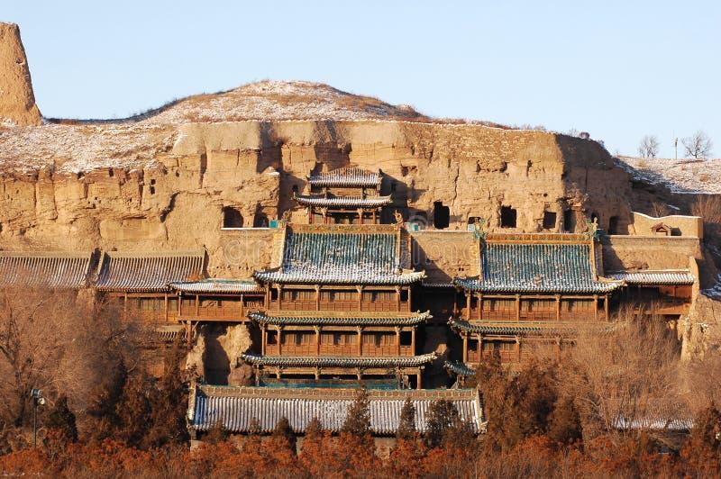 Grottes de Yungang images libres de droits
