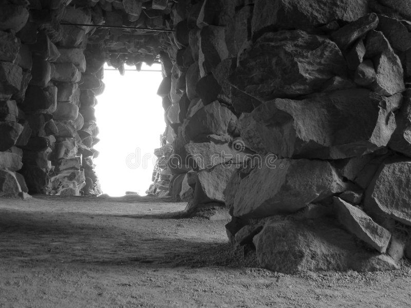 Grotto (Black & White) stock photography