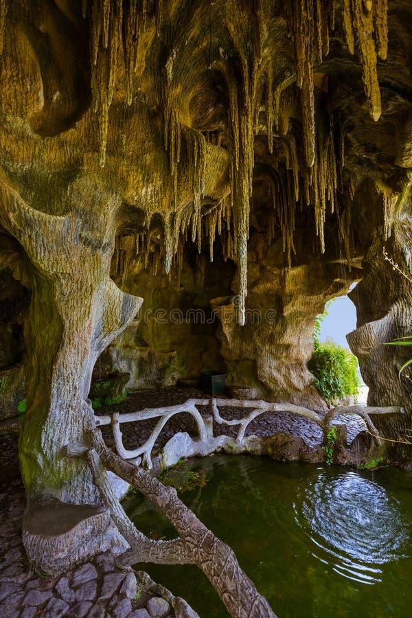 Grotto in Bom Jesus church - Braga Portugal. Travel background stock photos