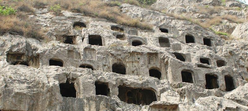Grotto de Longmen imagem de stock royalty free