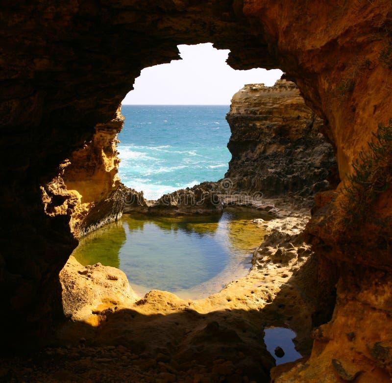 Grotto dell'oceano fotografia stock libera da diritti