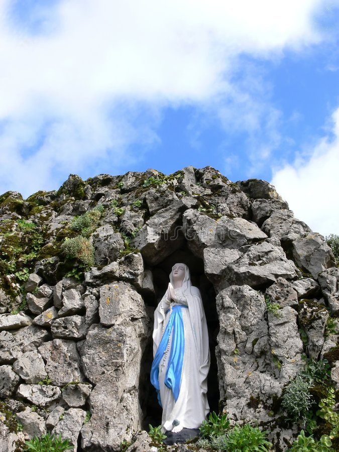 grotto Mary Virgin στοκ εικόνες