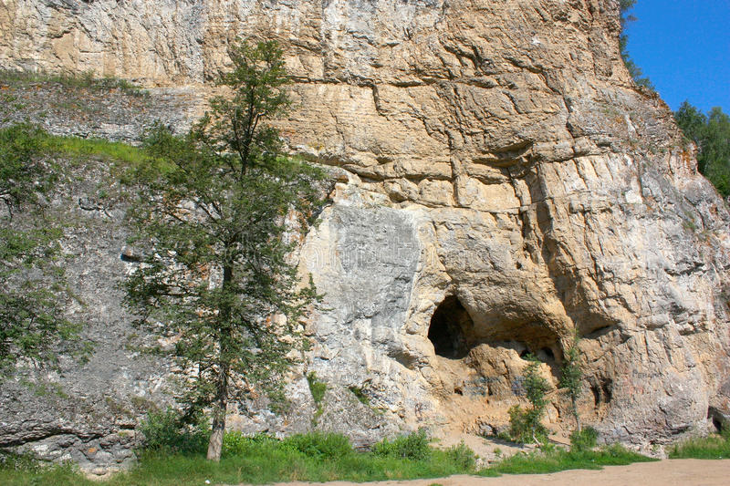 Grotto In Mountain Stock Images