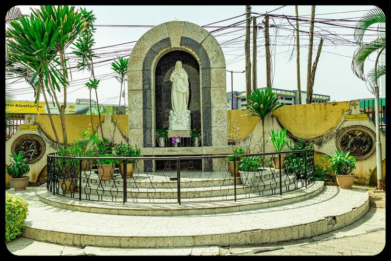 Grotto to the Virgin Mary at the Church of Assumption Falomo Ikoyi  Lagos stock image