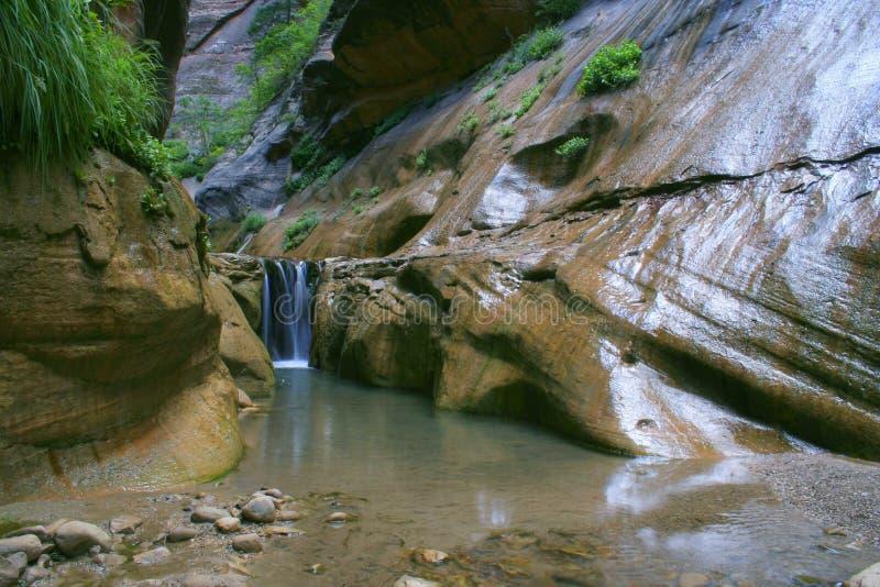 Grotto Waterfall Free Stock Photo