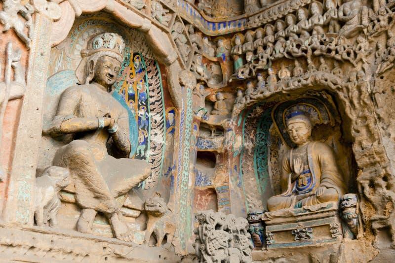Grottoes de Buddha imagem de stock royalty free