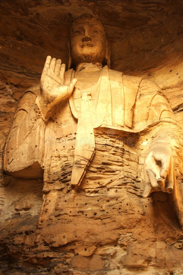 Grottoes di Yungang immagine stock libera da diritti