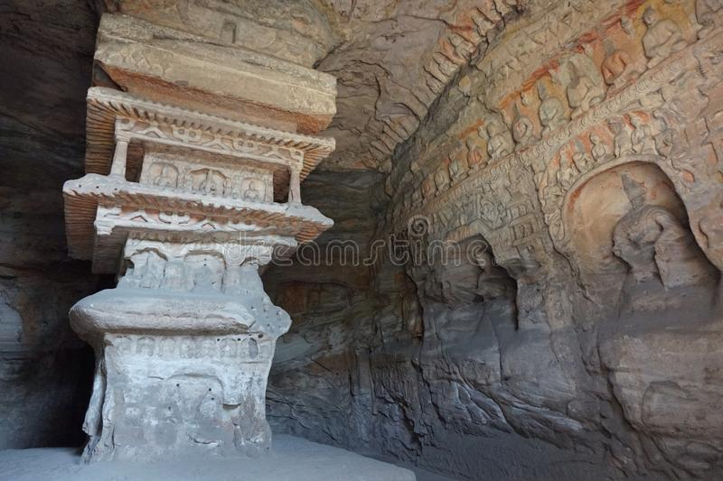 Grottoes di Yungang fotografie stock libere da diritti