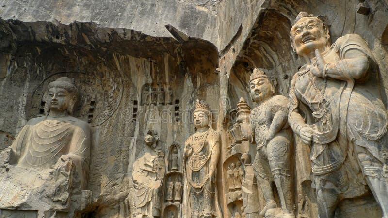grottoes longmen стоковая фотография rf