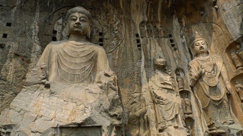 grottoes longmen royaltyfria foton