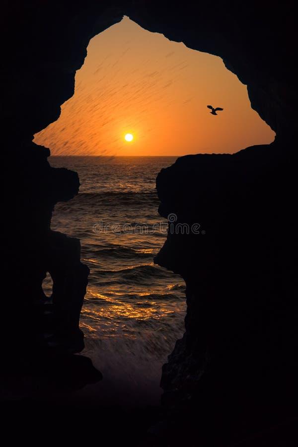 Grottor av Hercules royaltyfria foton