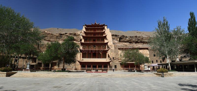 grottor dunhuang royaltyfria foton