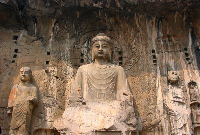 grottor longmen royaltyfri foto