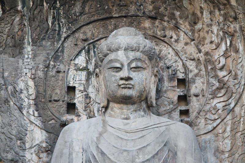 grottor longmen luoyang arkivbilder