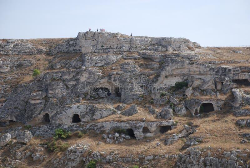 grottor matera fotografering för bildbyråer