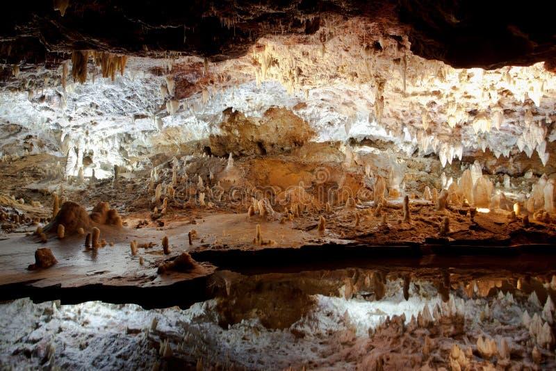 grottor reflekterar soplaovatten fotografering för bildbyråer