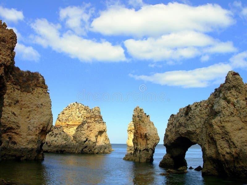 Download Grottos lagos arkivfoto. Bild av rocha, portugal, rock - 982884