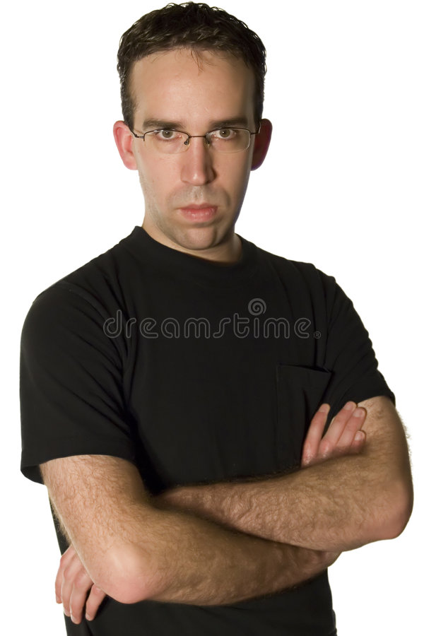Download Grouchy Young Man stock photo. Image of face, frontal - 4016530