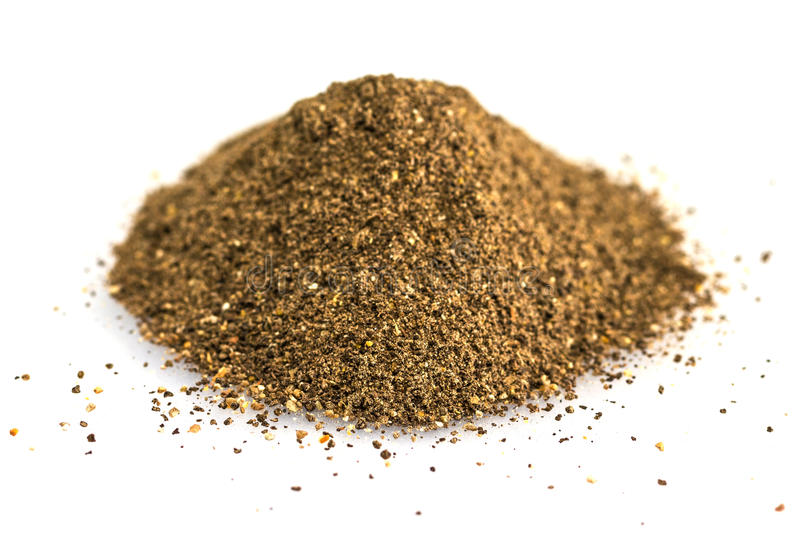 Ground black pepper stock photo
