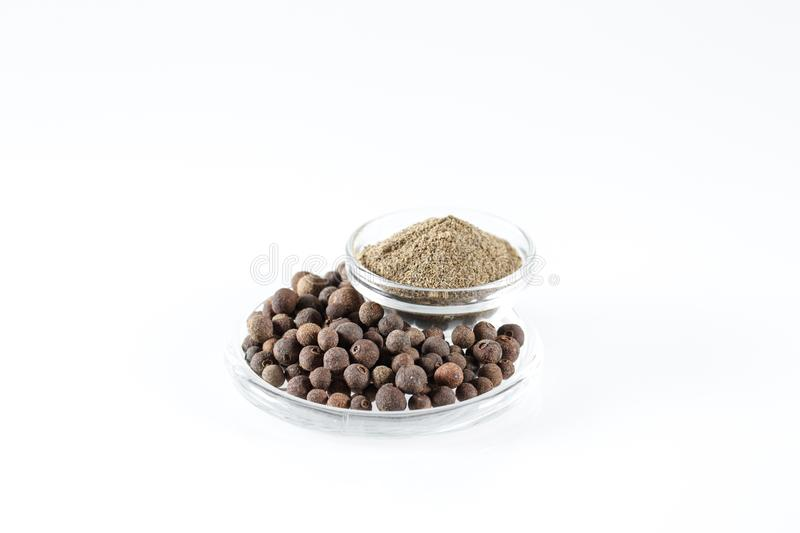Ground Black Pepper Isolated on the white background. royalty free stock photography