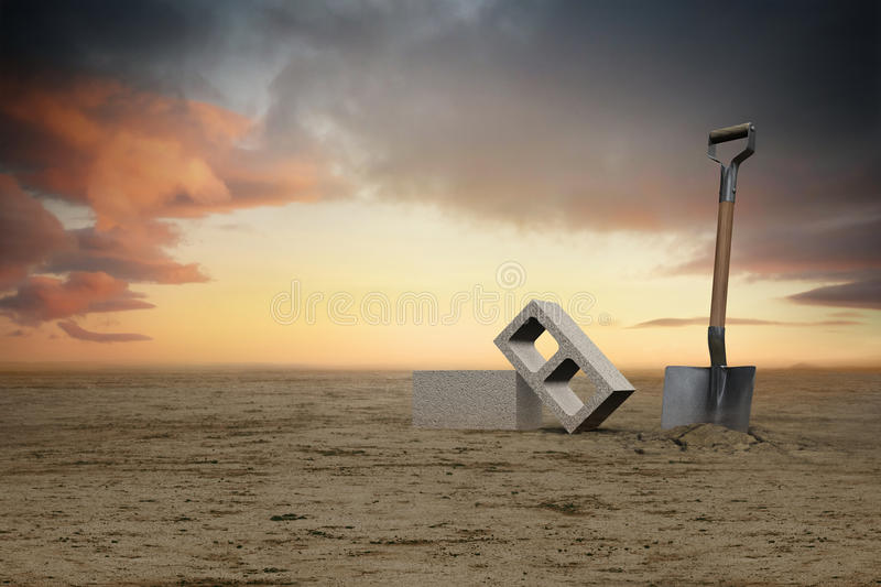 Download Ground breaking stock illustration. Image of building - 26139592